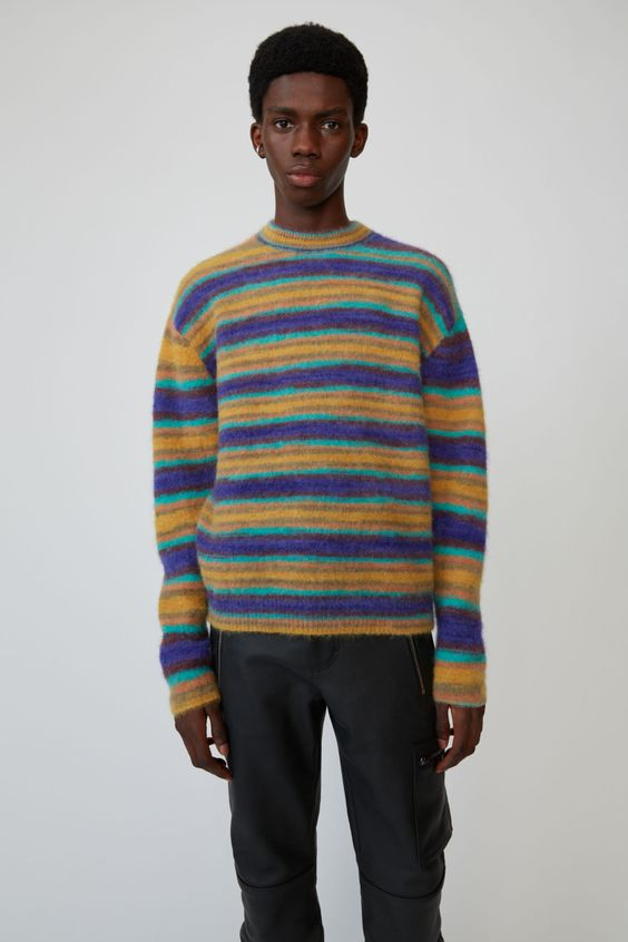 Acne Studios - Classic crewneck sweater Blue/multi