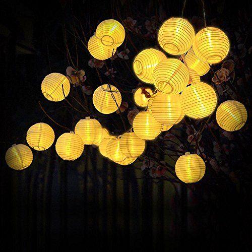 Lanterne Guirlande Solaire Guirlande Lumineuse 30 Led 6 Metres