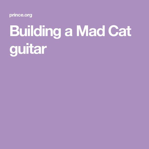 Building a Mad Cat guitar