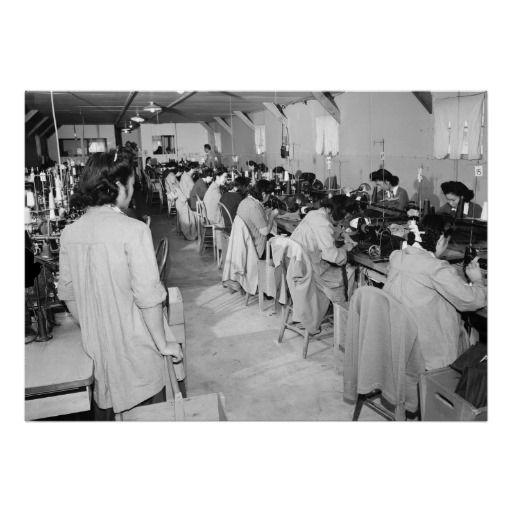 Manzanar Sewing Machine Girls: 1943 Print