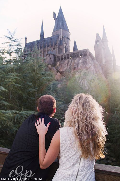 Stephanie Adam Wizarding World Of Harry Potter Engagement Photography Hogsmeade Photos Honeydukes Emilyrgilbert Whengee