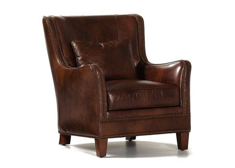 Superior Vermont Leather Chair By Randall Allan