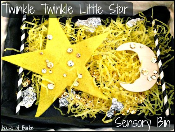Twinkle Twinkle Little Star Sensory Bin - House of Burke