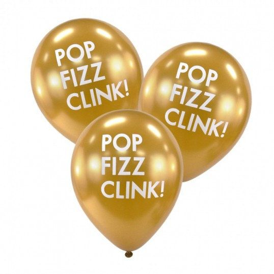 set of 6 pop fizz clink balloons choose color from drop down menu perfect photo prop and party decor larger quantities available