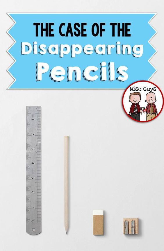 """The Case of the Disappearing Classroom Pencils: Every year it happens. The pencils go missing. Was it a hoarder in the classroom? Was it because we were giving too much work and they were wearing out faster? Was it due to not having enough at the beginning of the year? Whatever the case, we had a serious problem on our hands...disappearing pencils!! We decided to put on our detective hats and attempt to solve """"The Case of the Disappearing Pencils."""""""
