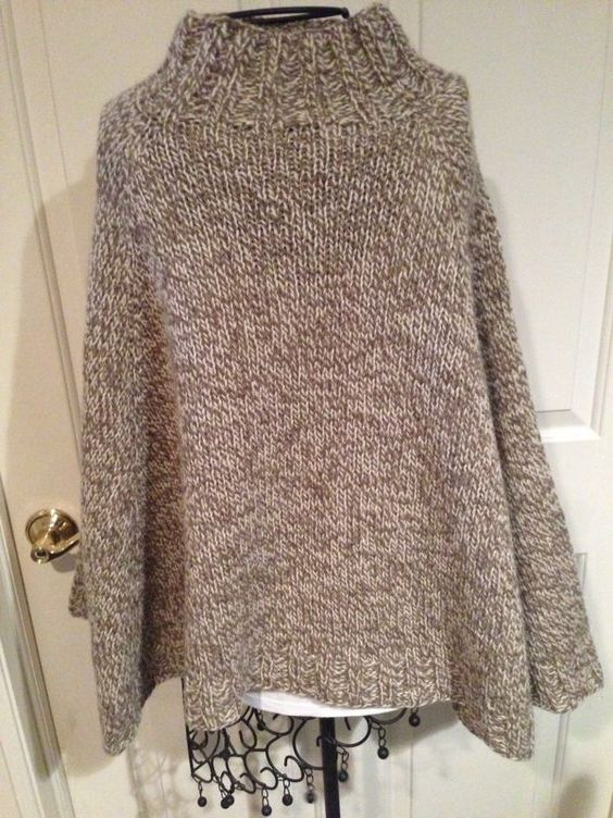 Knitting Pattern For Chunky Poncho :