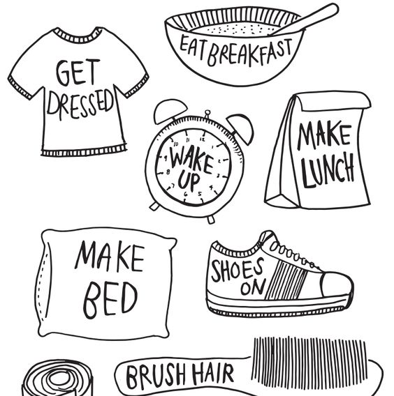 Morning Routines Clip Art And Mornings