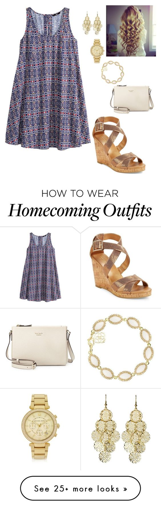 """""""Homecoming day 3: Stay Classy Wednesday"""" by swwbama on Polyvore featuring H&M, Cole Haan, Alexia Crawford, Michael Kors, Kate Spade and Kendra Scott"""