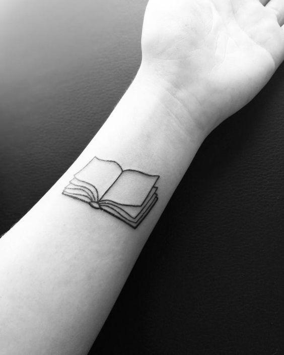Small Tattoo Book Book Tattoo Small Tattoos Small Book Tattoo
