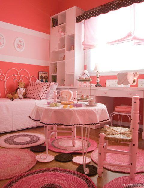 Habitacion ni a con alfombra de crochet crochet - Alfombra habitacion nina ...