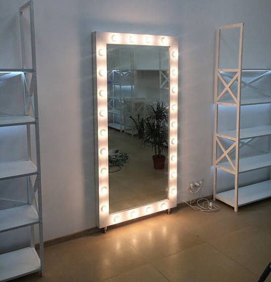 Full Length Mirror With Led Hollywood Vanity Mirror Mirror With