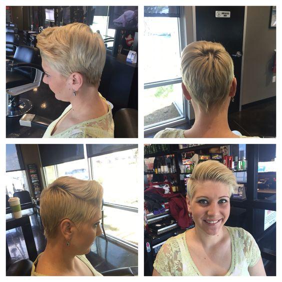 ::: Short Spunky High Fashion Punk Hair Cut & Style :::