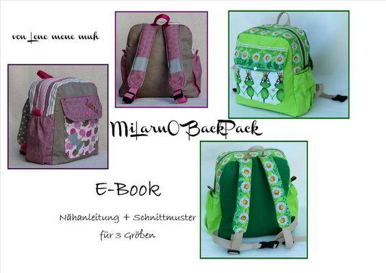 E-Book Nähanleitung+Schnittmuster MiLarno BackPack von Lene mene muh auf DaWanda.com