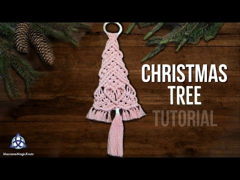 Macrame Christmas Tree Tutorial 2 Christmas Decorations Youtube Macrame Patterns Ribbon On Christmas Tree Diy Christmas Ornaments