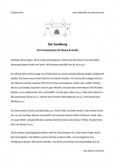 Fantasiereise - Die Sandburg