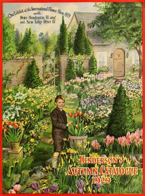 Henderson's Autumn Catalogue (1929). I love this cover. It surely whetted the imagination of gardeners doing all that digging in the fall!: