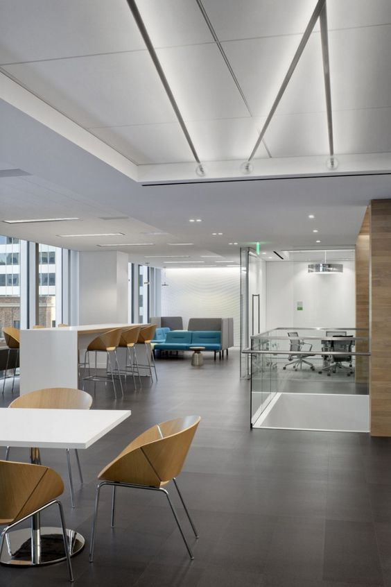 Receptions wooden chairs and offices on pinterest - Office interior design san francisco ...