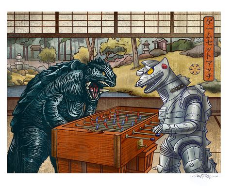 """Artwork by Chet Phillips. """"It's not wise to upset a giant turtle."""""""