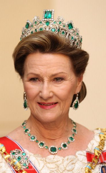 queen sonja of norway - gala dinner celebrating Queen Margrethe's 40 years on the throne