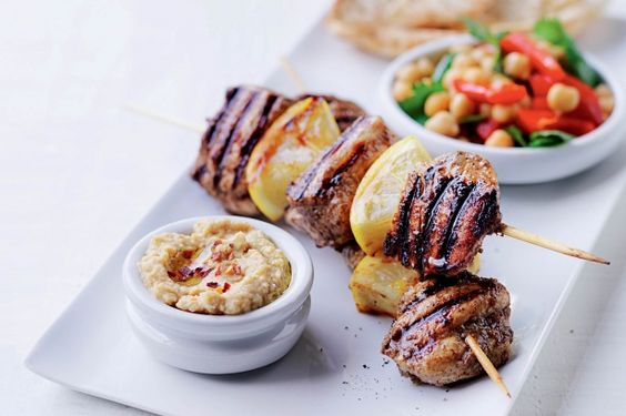 Mezze for one - Spoil yourself with a 'share plate for one' with Lebanese-style grilled chicken and easy homemade hummus.