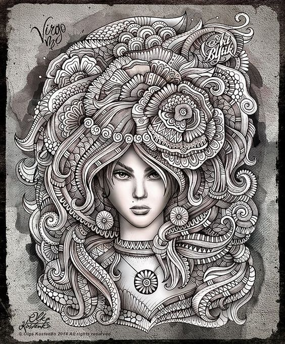 Zodiac ~ Virgo by Olka Kostenko on Behance: