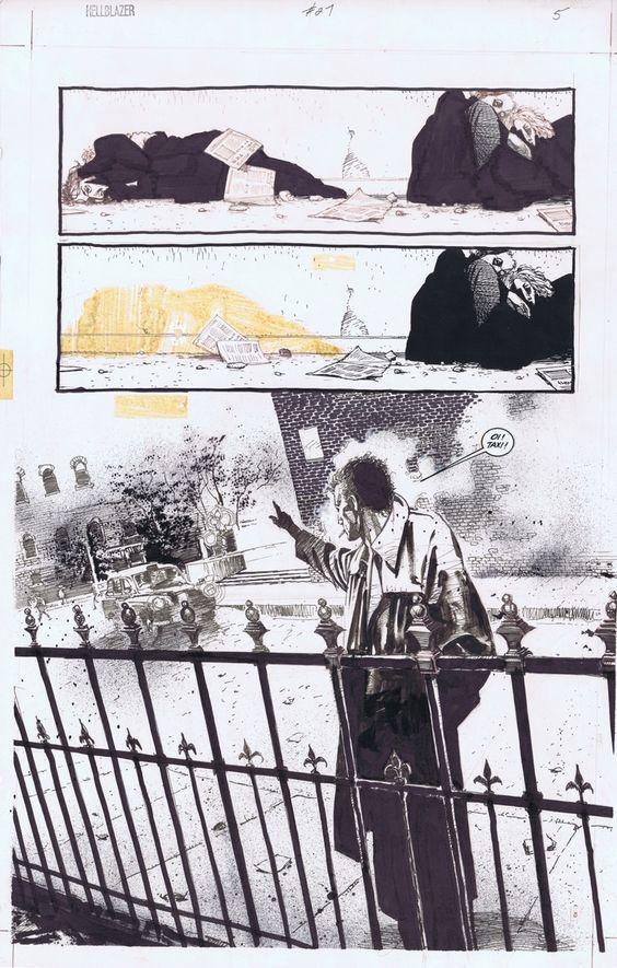 Dave McKean Hellblazer Comic Art