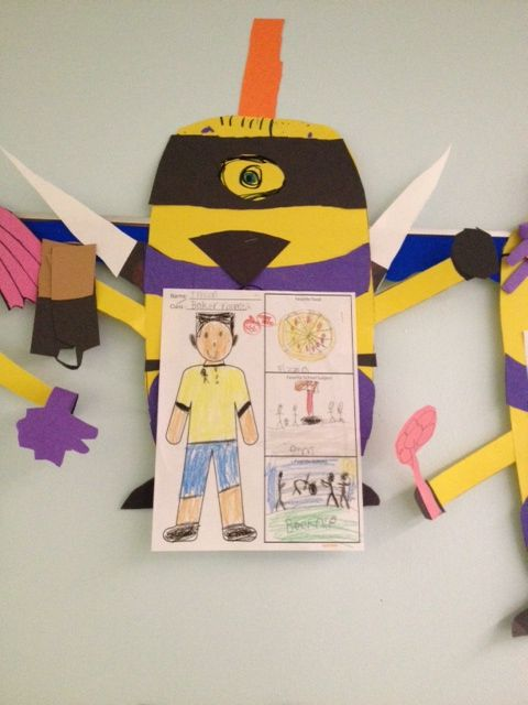 in a Minion Project Grade 2. Diversity Project - Students decorated ...