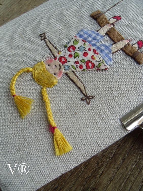 la t te l 39 envers pinterest summer girls and embroidery. Black Bedroom Furniture Sets. Home Design Ideas