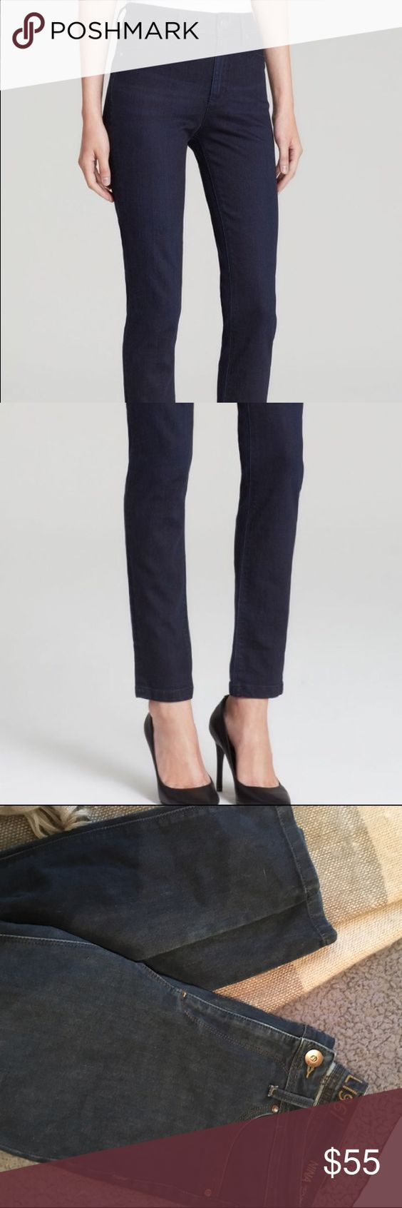 DL1961 Nina High Rise Jeans High-rise DL1961 skinny jeans with a figure-hugging fit. Faux front pockets and patch back pockets. Button closure and zip fly.  Fabric: Lightweight, 4-way stretch denim. 63% modal/37% polyester. DL1961 Jeans