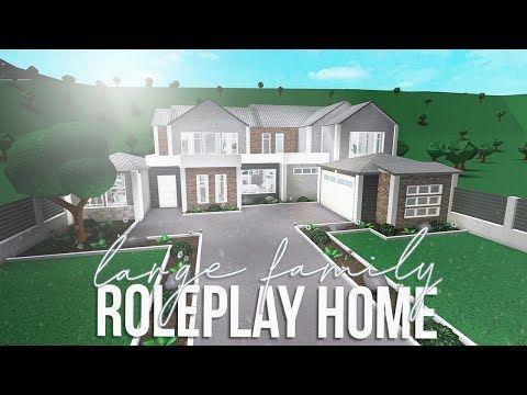 Roblox Bloxburg Large Family Roleplay Home 123k House Plans With Pictures Family House Plans Two Story House Design
