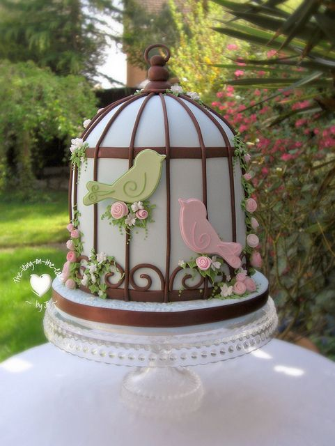 Beautiful birdcage cake