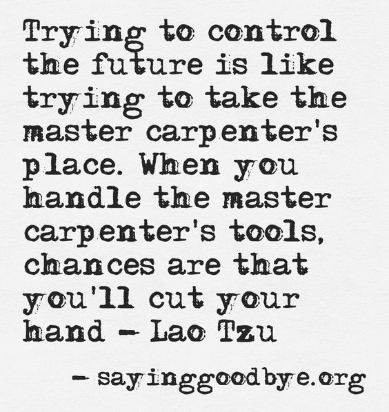 Trying to control!