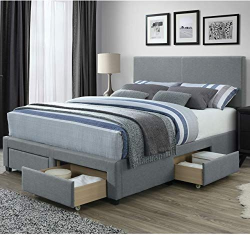 Amazing Offer On Dg Casa Kelly Panel Bed Frame Storage Drawers