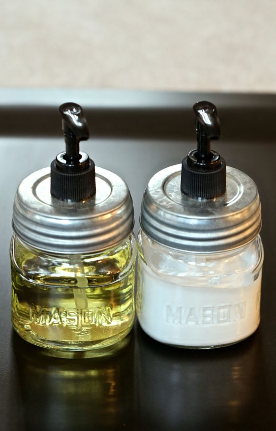 TWO (2) Mason Jar Kitchen Organizer Dish Soap Dispensers Glass with Metal Lid and Black Pump - Minimalist Gifts For Her - Best Seller. $29.99, via Etsy.: