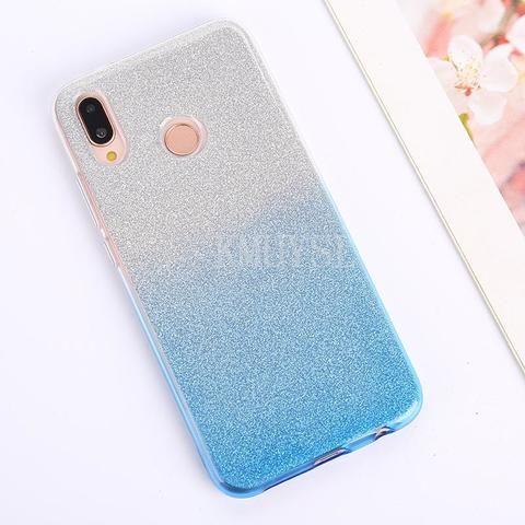 Bling Glitter Case For Huawei Y9 Y5 Y6 Prime 2018 P20 Pro P10 P9 P8 Lite 2017 Honor 7a 7c 6a 6c Pro P Smart Gradient Soft Cov Cute Phone Cases