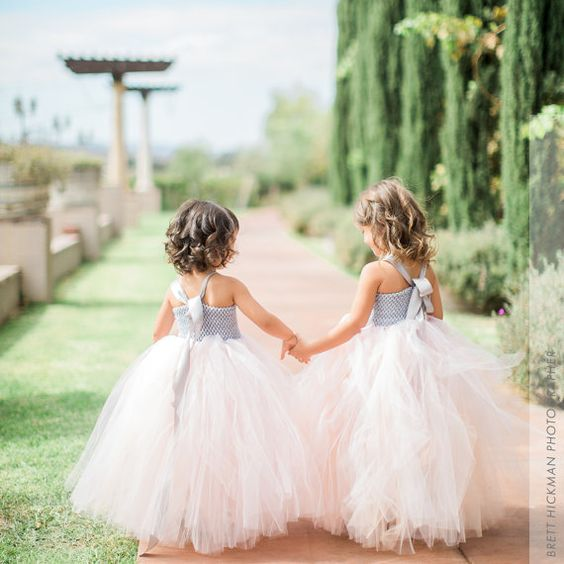 Flower girls tutu - Peachy Metallic Wedding Inspiration: