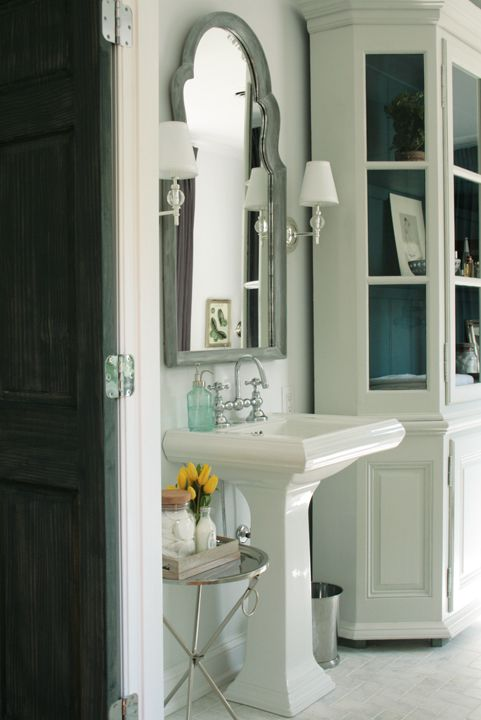 Pedestal Sink Mirror And Pedestal On Pinterest