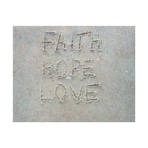 FAITH, HOPE, LOVE GALLERY WRAP CANVAS