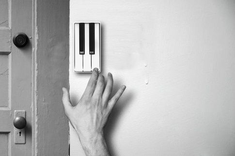 Cool doorbell that allows guests to perform a short piece of music on arrival ...