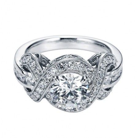 My engagement ring.  I LOVE IT.  Prettiest ring ever.  Antique Halo Diamond Engagement Ring Setting