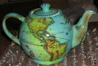 Paul Cardew Old World TERRESTRIAL GLOBE Teapot Rare *NR (05/22/2007)