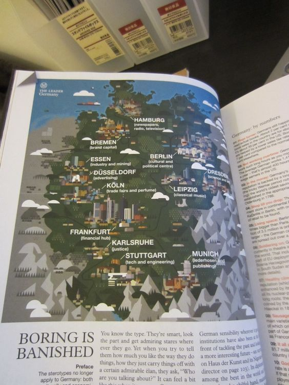 Map of Germany in Monocle