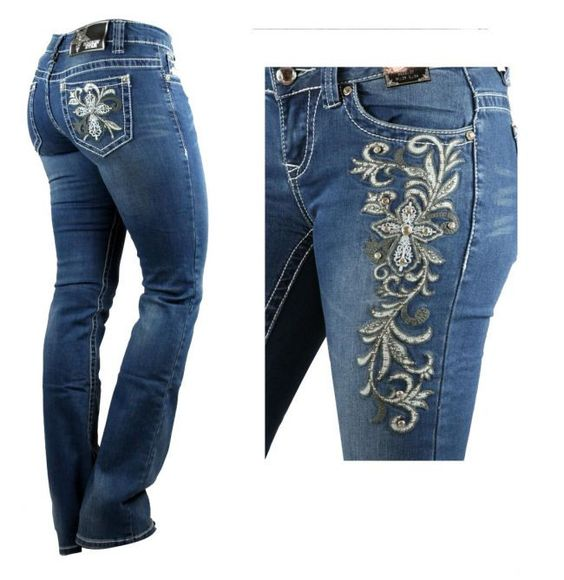 Rockinu0026#39; Star Bootcut Jeans With Embroidered Cross | Products Stars And Jeans