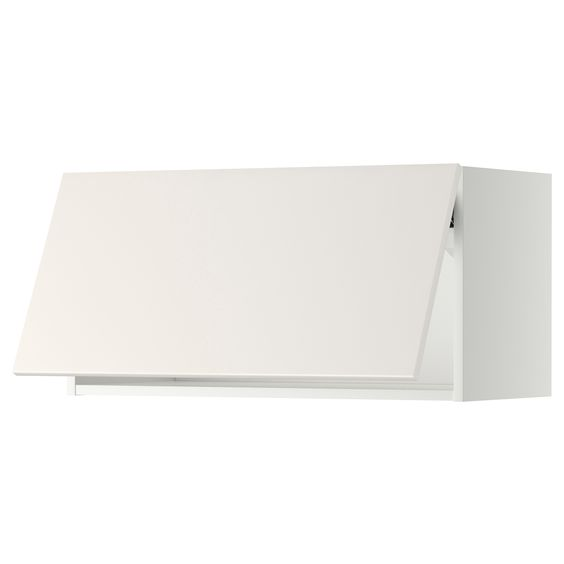METOD Overskap horisontalt - hvit, Ringhult høyglans hvit, 80x40 ...