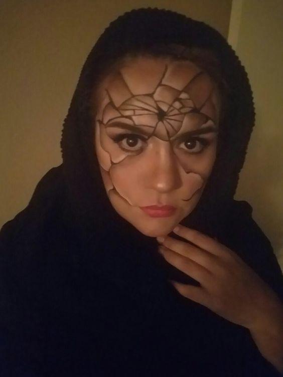 The broken woman #makeup #halloween #crackedface