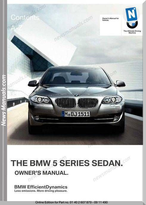 Bmw 5 Series 2013 Owners Manual Bmw Owners Manuals Bmw 5 Series