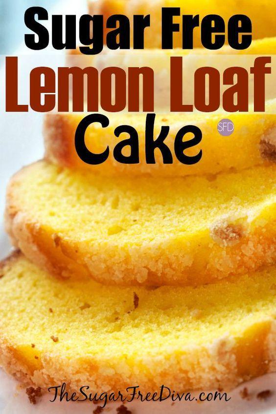 Yum I Love This Sugar Free Lemon Loaf Cake Sugarfree Diabetic Cake Easy Diabetic L Diabetic Desserts Sugar Free Sugar Free Baking Sugar Free Desserts