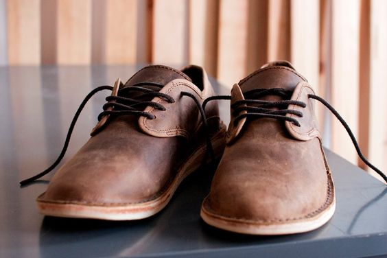 old school brown shoes