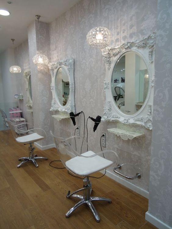 Zona de tocadores nuestro beauty salon eva pellejero for Peluqueria y salon de belleza