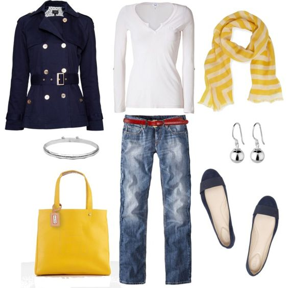 Relaxed with a pop of color, nautical